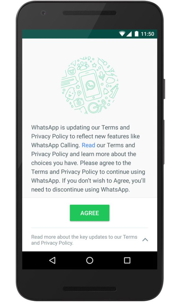Whatsapp updated tnc